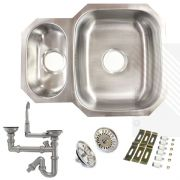 Premium Undermount 1.5 Bowl Stainless Steel Kitchen Sink | Reversible
